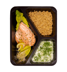 Posiłek wegatariańska dieta pudełkowa veggie